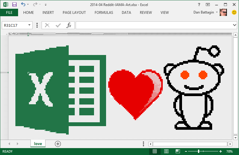 Excel loves reddit.